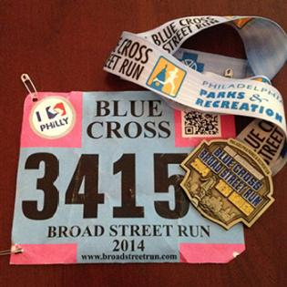 Broad Street Run Medal